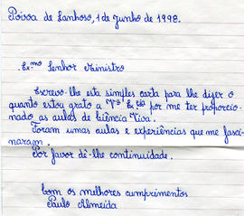 Carta da Escola da Sede - Póvoa do Lanhoso