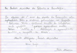 Carta da Escola do Carandá - Braga